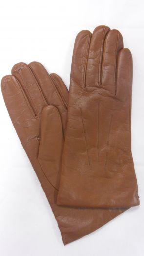 Перчатки зимние кожаные мужские HRAD 9137 cognac