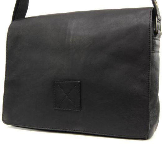 Сумка мужская горизонтальная Ashwood Leather Kensington Pedro Black