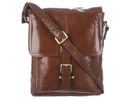 Сумка мужская вертикальная Ashwood Leather Chelsea Benjamin Chestnut Brown