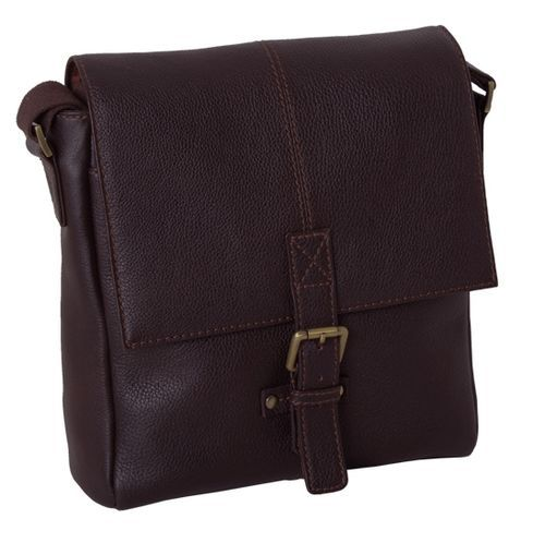 Сумка мужская вертикальная Ashwood Leather Westminster Murphy Dark Brown