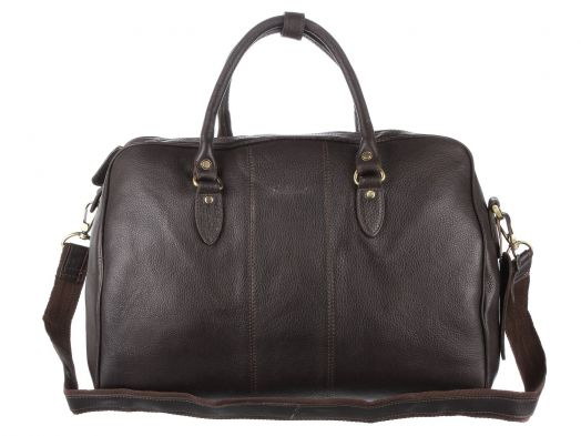 Дорожная сумка Ashwood Leather Westminster Harry Dark Brown