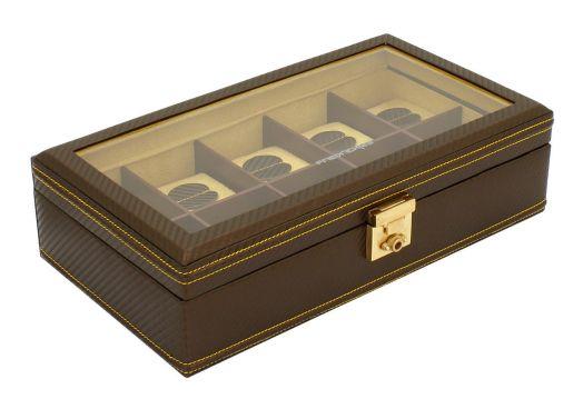 Шкатулка для хранения 10 часов  Friedrich Lederwaren CARBON 32048-8