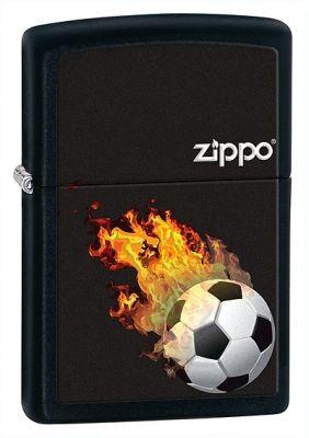 Зажигалка ZIPPO Classic с покрытием Black Matte, латунь/сталь, чёрная, матовая, 28302