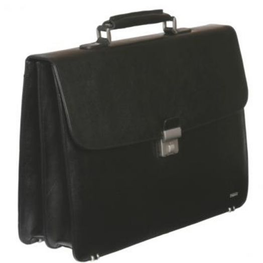 Кожаный портфель Diplomat SK-208-3-(1)B (черный)