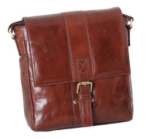 Сумка мужская вертикальная Ashwood Leather Chelsea Murphy Chestnut Brown