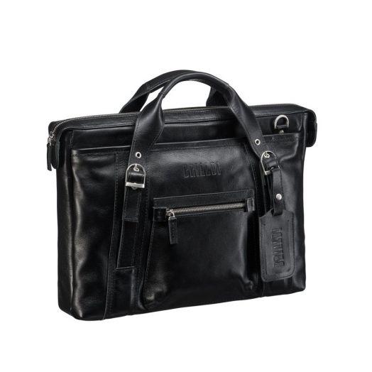 Мужская горизонтальная сумка BRIALDI Navara (Навара) black