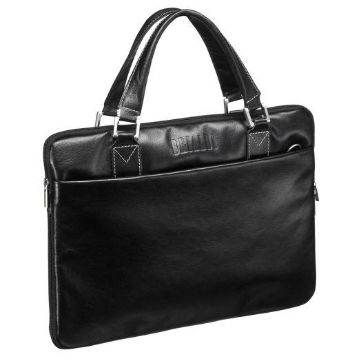 Мужская горизонтальная сумка BRIALDI Ostin (Остин) black